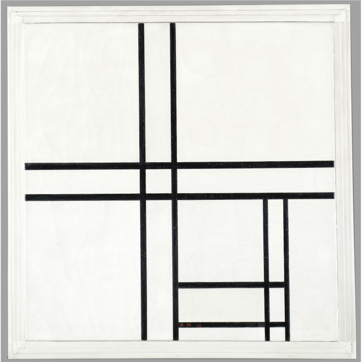 piet-mondrian-1872-1944-composition-in-black-and-white-with-double-lines-signed-with-the-initials-pm-and-dated-34-bottom-center-signed-piet-mondrian-on-the-stretcher-oil-on-canva